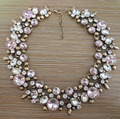 PPG&PGG Fashion Accessory Pink Rhinestone Collares Crystal Jewelry Choker Necklaces