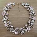 Ppg y pgg accesorio de moda rosa rhinestone collares crystal jewelry choker collares