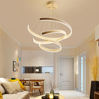 Led chandeliers modern minimalist chandelier Bars Nordic chandeliers individual porch dining room circular living room lights