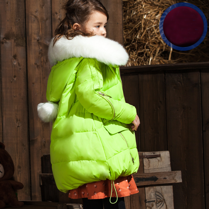 2018 Teenage Children Down Jacket for Girl Warm Thickened Long Winter Coat Baby Girls' Parka Outwear Kids Winter Down Jacket 2018 new girls long padded jacket children winter coat kids warm thickening down coats for kids outwear leisure parka kid jacket