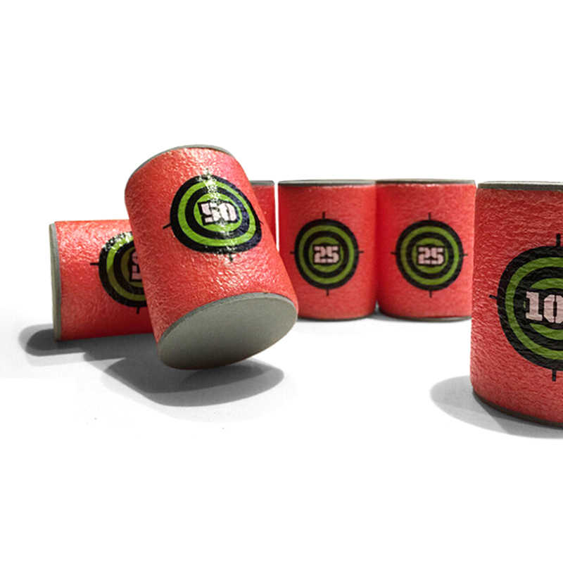6 sztuk cel pocisku strzał dart cel na pistolety zabawkowe Elite Retaliator seria Blasters rzutki pistolet zabawkowy na miękkie pociski załącznik