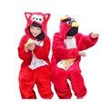 Bonito crianças one piece-pijama bonito Ali com raiva pássaros dos desenhos animados pijamas para 3-10yrs crianças das meninas dos meninos macacão pijama noite roupas