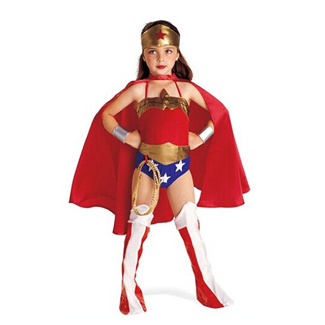 Your Little Girl Wonder Child Girlu0027s Costume Halloween Captain Amarica Kids Superhero Costumes Super Hero Cosplay  sc 1 st  AliExpress.com & Your Little Girl Wonder Child Girlu0027s Costume Halloween Captain ...