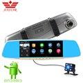 Anstar 6.86 pulgadas coche dvr de doble cámara de ips táctil android 4.4 Espejo Retrovisor de Navegación GPS FHD 1080 P Dash Cam Video grabadora