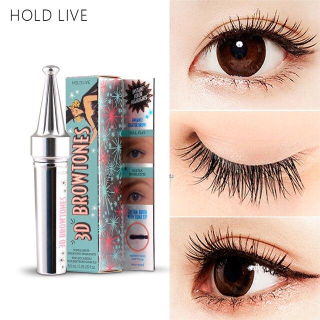 97fddd1872e HOLD LIVE 4D Silk Fiber Eyelash Mascara Waterproof Natural Thick Curling  Eyelashes Extension Black Color Eye Lashes Brush Makeup