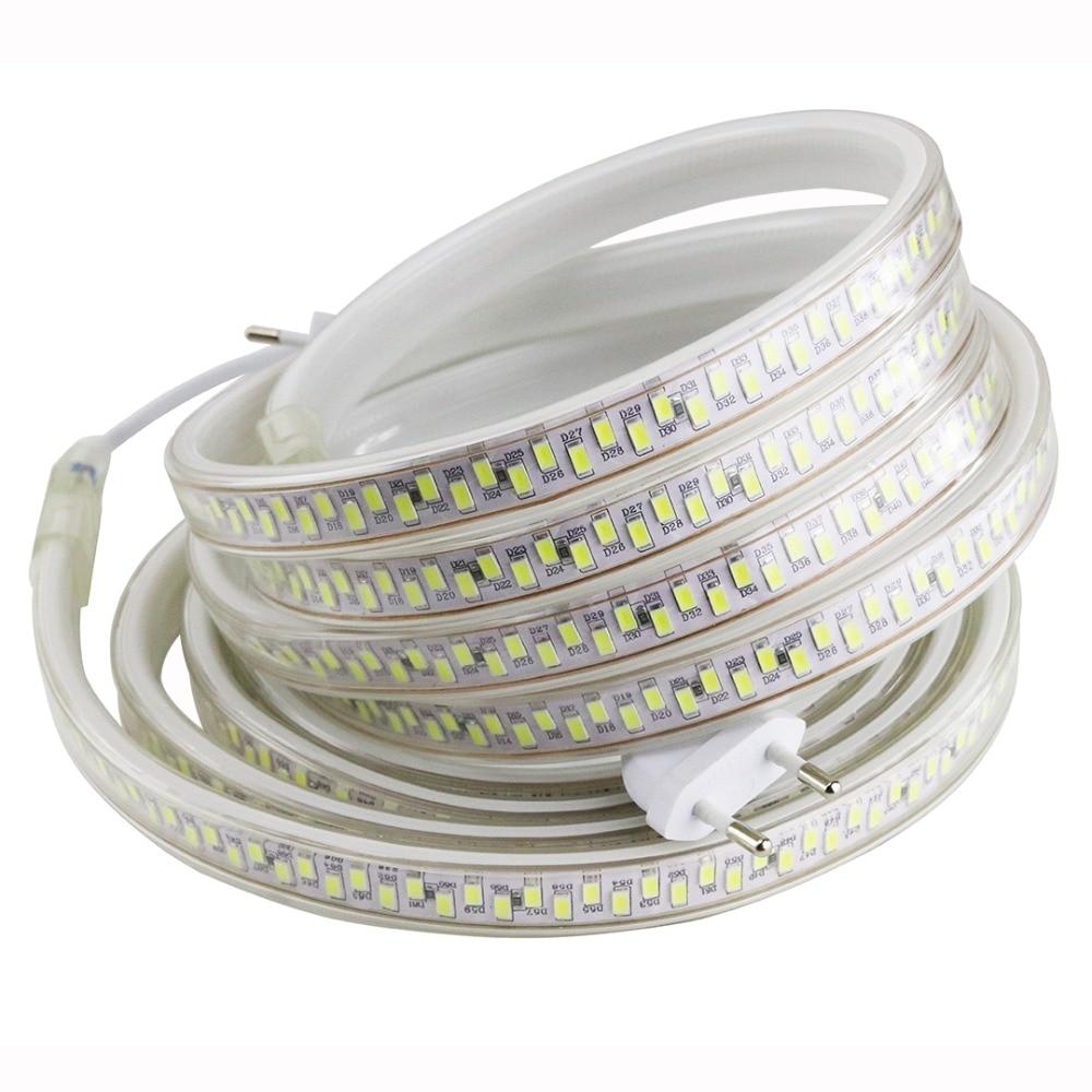 Very high brightness LED Strip Light for Kitchen closet 180Leds/m IP67 Waterproof SMD 5630 220V LED tape ribbon with EU plug IL