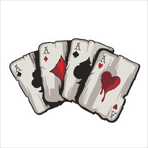 Image 2 - YJZT 15.2CM*9.8CM  Cartoon Playing Cards A Decal PVC Motorcycle Car Sticker  11 00780