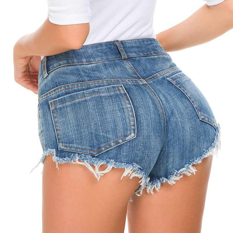 White Women Denim Shorts Sexy With Front Button Hot Black Jean Micro Mini Shorts For Women Summer Denim Short Jeans 2019 Beach