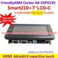 Cortex A8 FriendlyARM Development Board Smart210/TINY210V2 + 7 polegadas de Toque Capacitivo LCD 1G SLC Flash HDMI Linux ESTREMECER Android