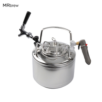 Homebrew 6L Cornelius style Ball lock Beer Keg & Chrome Plated beer faucet tap & co2 keg charger kit