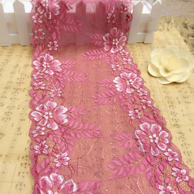 Nuevo! 5 Yardas/porción Elástico Chantilly Lace Tela para Vestidos ...