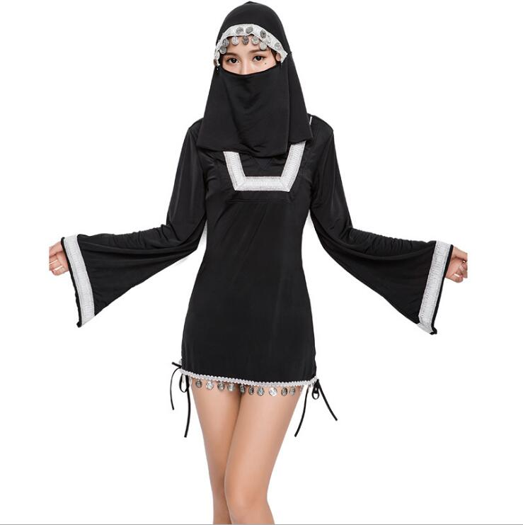 Halloween Costumes The Virgin Mary Nun Costume Robe Clothing + Headscarf Costumes Suit for Women
