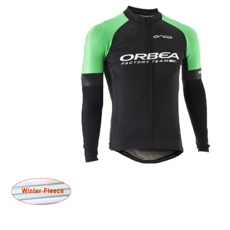 Cycling Jersey Orbea Pro winter thermal fleece Long Sleeve cycling jersey clothing MTB C ...