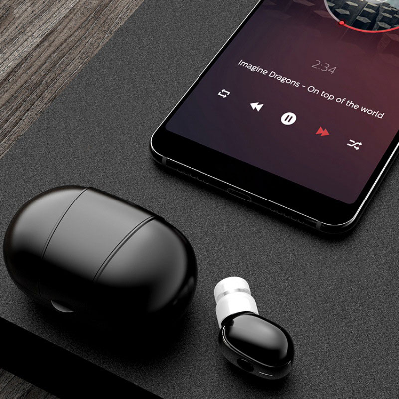 Tws Wireless Stereo Sports In-ear Earphone With Mic True Wireless Sports Wireless Bluetooth Headset With Charging Box Bluetooth