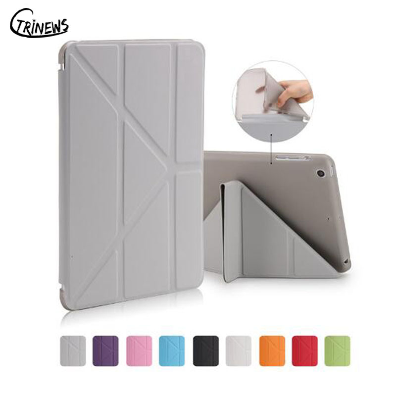 Ctrinews For Apple iPad mini 1/2/3 TPU cover Smart PU Leather Stand Case For iPad mini Tablet Case Magnet wake up sleep capa stand ultra thin pu leather case for apple ipad mini 1 2 3 case colorful flip tablet smart cover auto sleep wake up magnet