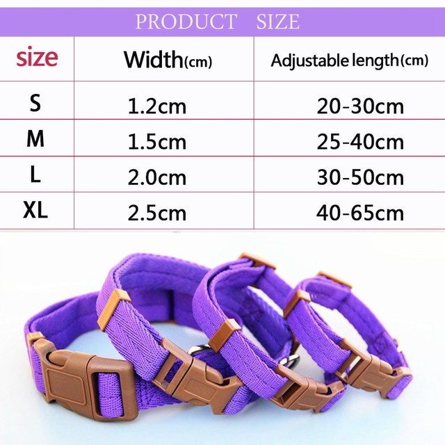Dadugo Pet dog collar nylon adjustable clip buckle dog collars head collars size S/M/L/XL puppy large dropshipping 5