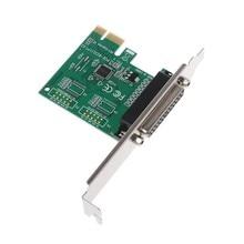 Paralel Port DB25 25Pin LPT PCI-E ekspres kart dönüştürücü adaptör