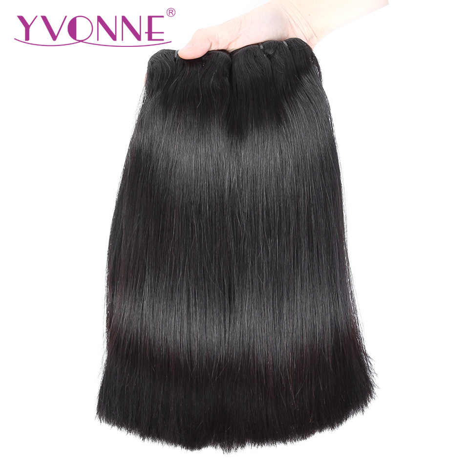YVONNE Brazilian Straight Hair 3 Bundles Cuticle Aligned Virgin Hair 10-22 Inches Human Hair Weave Bundles