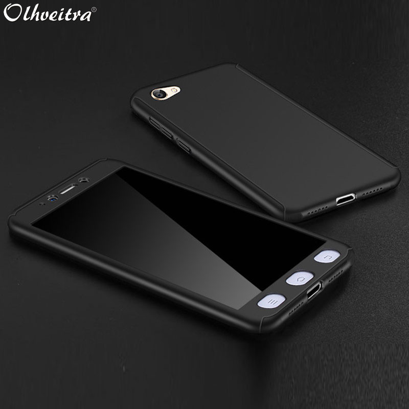 360 Full Coverage For Xiaomi Redmi Note 5A Pro Prime Case Protective Phone Cases Plastic + Tempered Glass Case For Redmi Note 5A