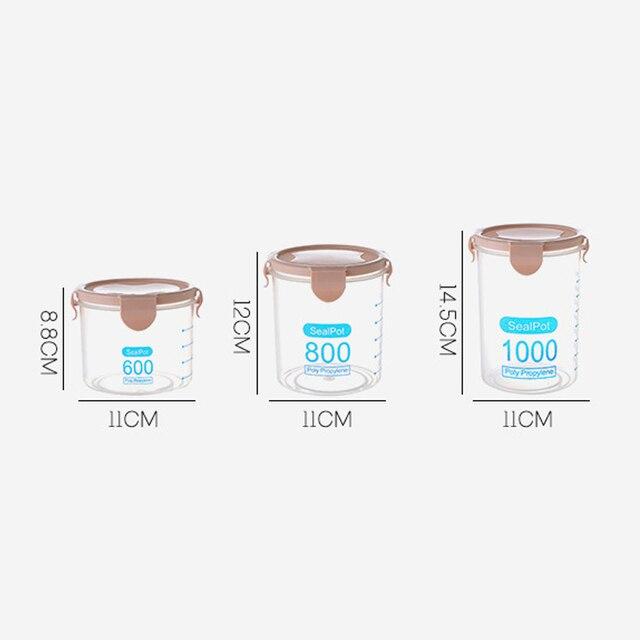 1 pc A Prova D'umidità Trasparente Lattine Sigillate di Plastica Frigorifero Con