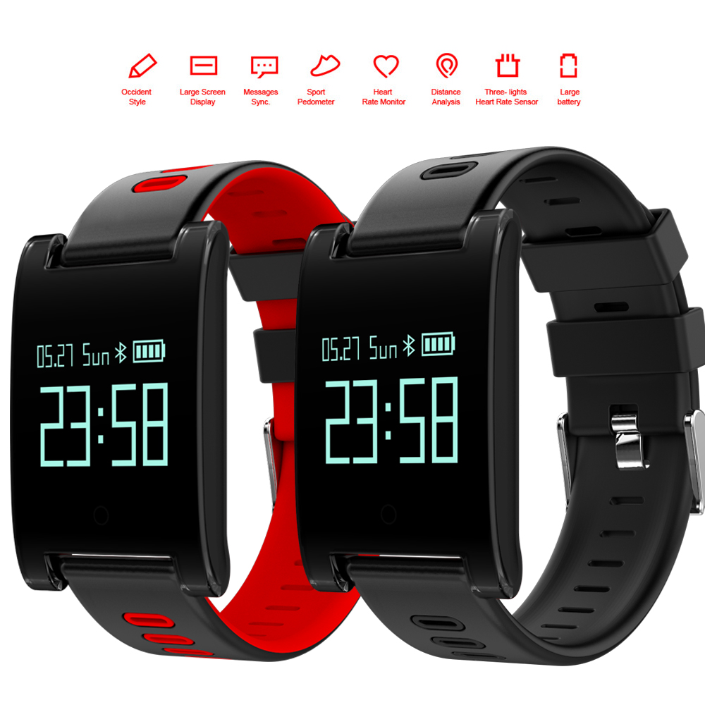 2018 NEW Outdoor Sports Smart Watch DM68 Bluetooth Heart Rate sleep calorie monitoring waterproof IP67 fitness smart watch e band bluetooth 4 0 wristband smart watch sports tracking sleep monitoring ip67
