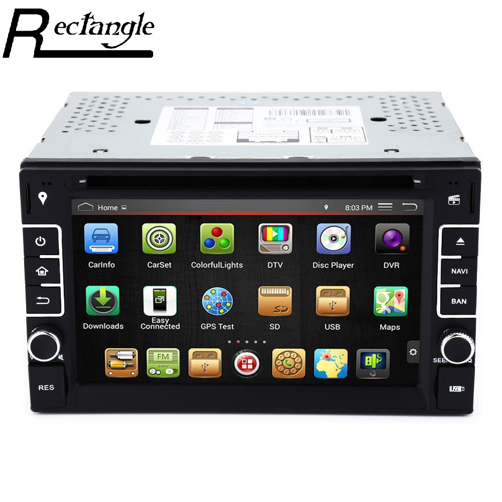 imágenes para 6.2 inch Car DVD Stereo Video Player GPS Navigation Android 4.4.4 Cortex A9 CPU 1GB RAM 0.98G ROM Console with Capacitive Screen