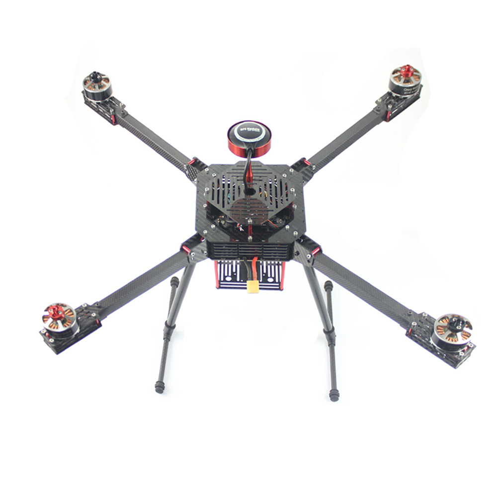 JMT GM680 680mm Pure Carbon Fiber Foldable Frame Automatic Return GPS Drone Helicopter with Electric Landing Skids