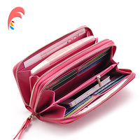 Genuine Leather Wallets Female Famous Brand Fashion Serpentine Double Zipper Evening Ladies Purse Day Clutch Bag