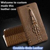 JC10 Crocodile Head Pattern Genuine Leather Flip Case For Xiaomi Redmi 4X Phone Case With Card