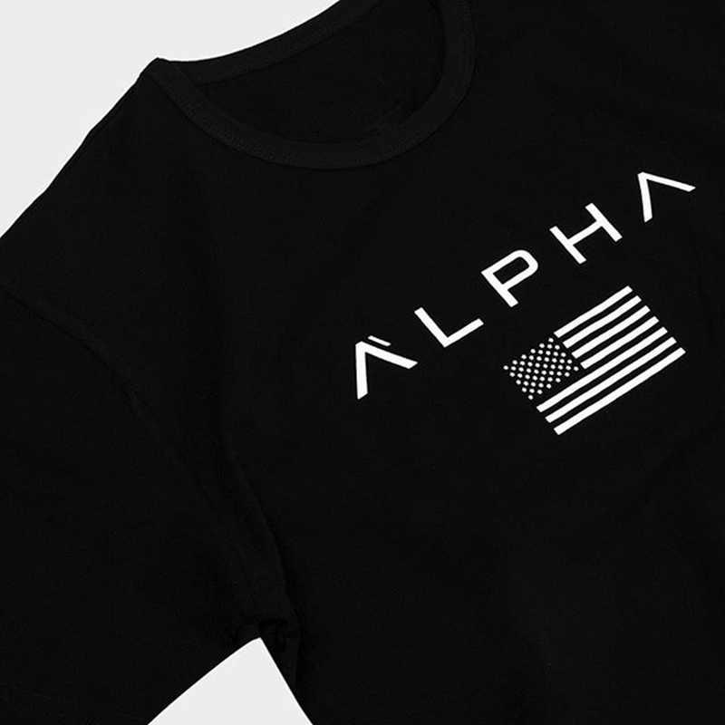 ジム Tシャツメンズ半袖コットン Tシャツカジュアルプリントスリム tシャツ男性フィットネスボディービルワークアウトの Tシャツは夏の服トップス
