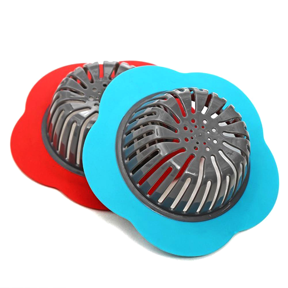 Flower Shaped Silicone Sink Strainer Shower Sink Strainer Floor Drain Anti-clogging Filter 3