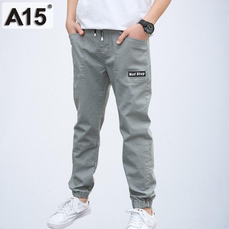 Kids Boys Winter Cargo Harem Jeans Jogging Joggers Sports Trousers Casual Pants