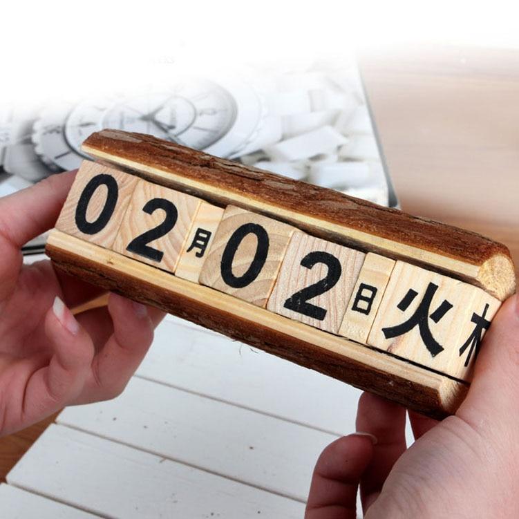 Japan Wooden Desk DIY Calendar Desktop To Do List Daily Planner Book Office Desk Supplies Standing School