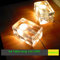 Nova lâmpada de mesa luz da Mesa bloco de cubos de gelo, quarto lâmpada de cabeceira 12*8*8 cm G9 lâmpadas AC110-240V