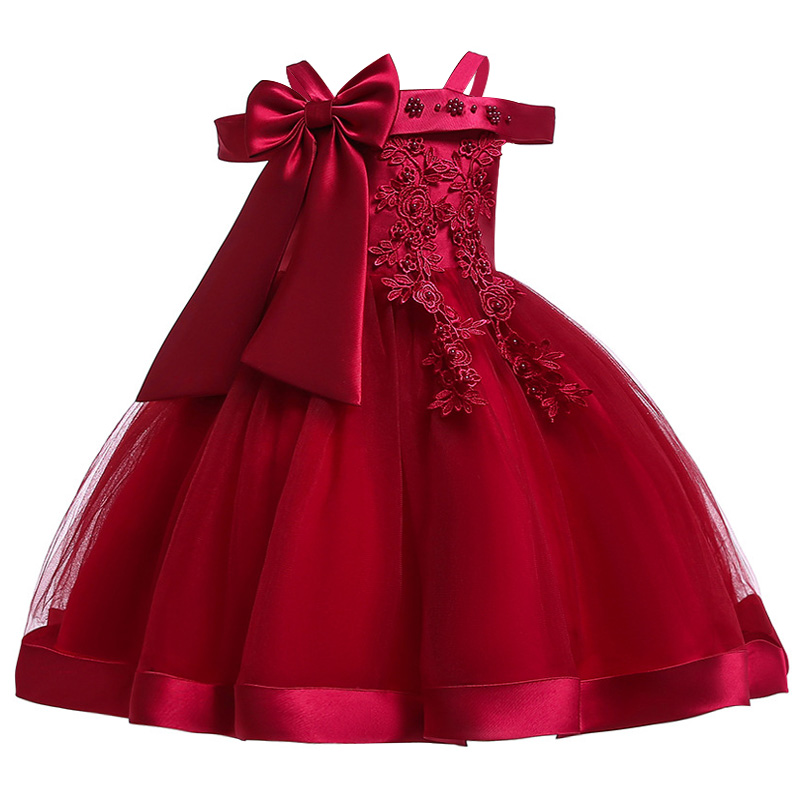 HTB1EWgkXUz1gK0jSZLeq6z9kVXa8 2019 Kids Tutu Birthday Princess Party Dress for Girls Infant Lace Children Bridesmaid Elegant Dress for Girl baby Girls Clothes