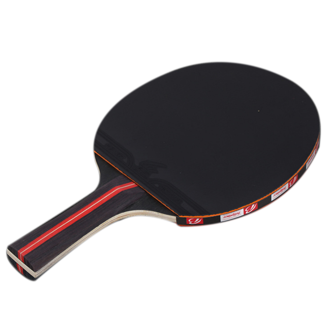 One Pair Short Handle Rubber Table Tennis Rackets With 3