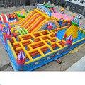 Надувной замок уличный большой батут квадратный парк детская игровая площадка оборудование надувные препятствия большая горка