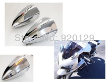 Chrome Motorcycle Turn Signal Pig Spotter Mirrors for Yamaha YZF R1 R6 R6S