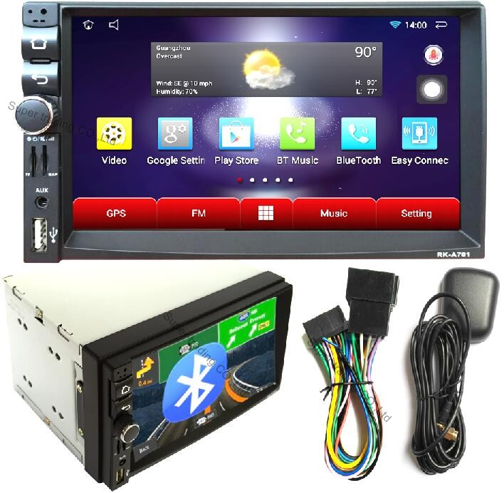 Car Electronic autoradio 2 din android 4.4 car radio audio stereo player GPS Navigation radios para autos WIFI/Bluetooth/usb/sd