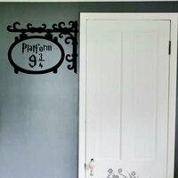 Platform 9 3 4 Door Wall Sticker Kids Room Bedroom Harry Potter Movie Wall Decal Bathroom