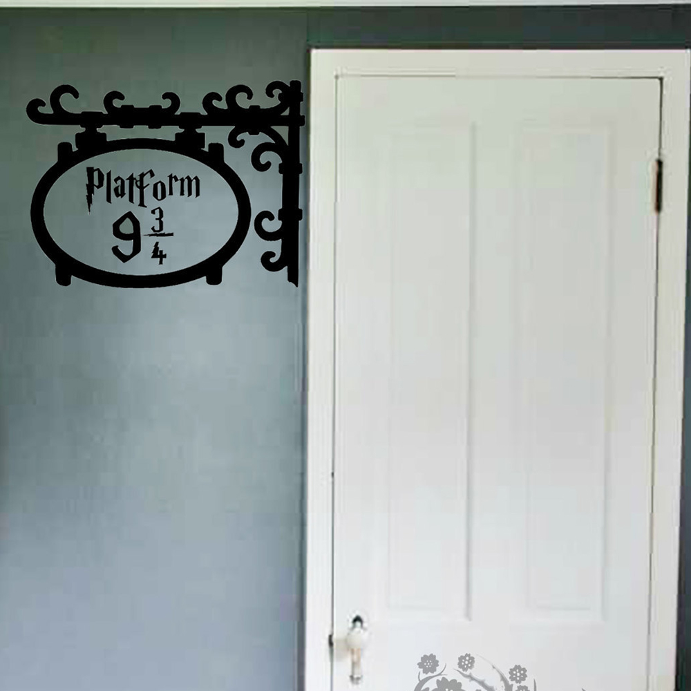 Platform 9 3 4 door wall sticker kids room bedroom harry for Door in the wall