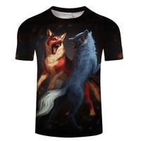 Horse&Cow&Native&Wolf With Music 3D Men T Shirt ShortSleeve Tshirt 3D Print T-shirt Summer Vintage Loose Tops Thin Tees Dropship 4
