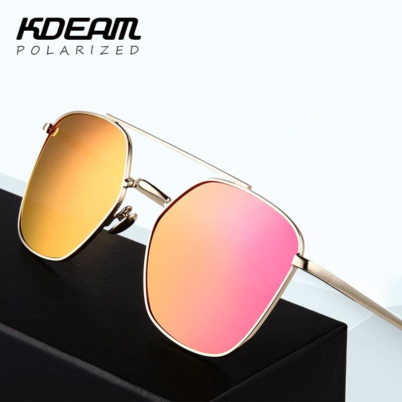 Upscale font b Fashion b font font b Polarized b font Sunglasses Men Geometric Square Gold