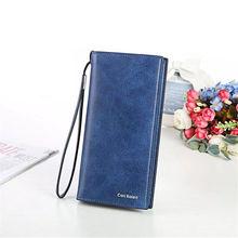 купить 2019 New fashion Brand Women Solid Hasp Coin Purse ladies Long Wallet Card Holders Handbag women bags purse female carteira Fem по цене 531.47 рублей