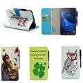 Флип Стенд Case for Samsung Galaxy Tab A 7.0 A6 7 дюймов T280 T285 T280N T285C Роскошные Живопись PU Слот Кожа Карт Бумажника крышка