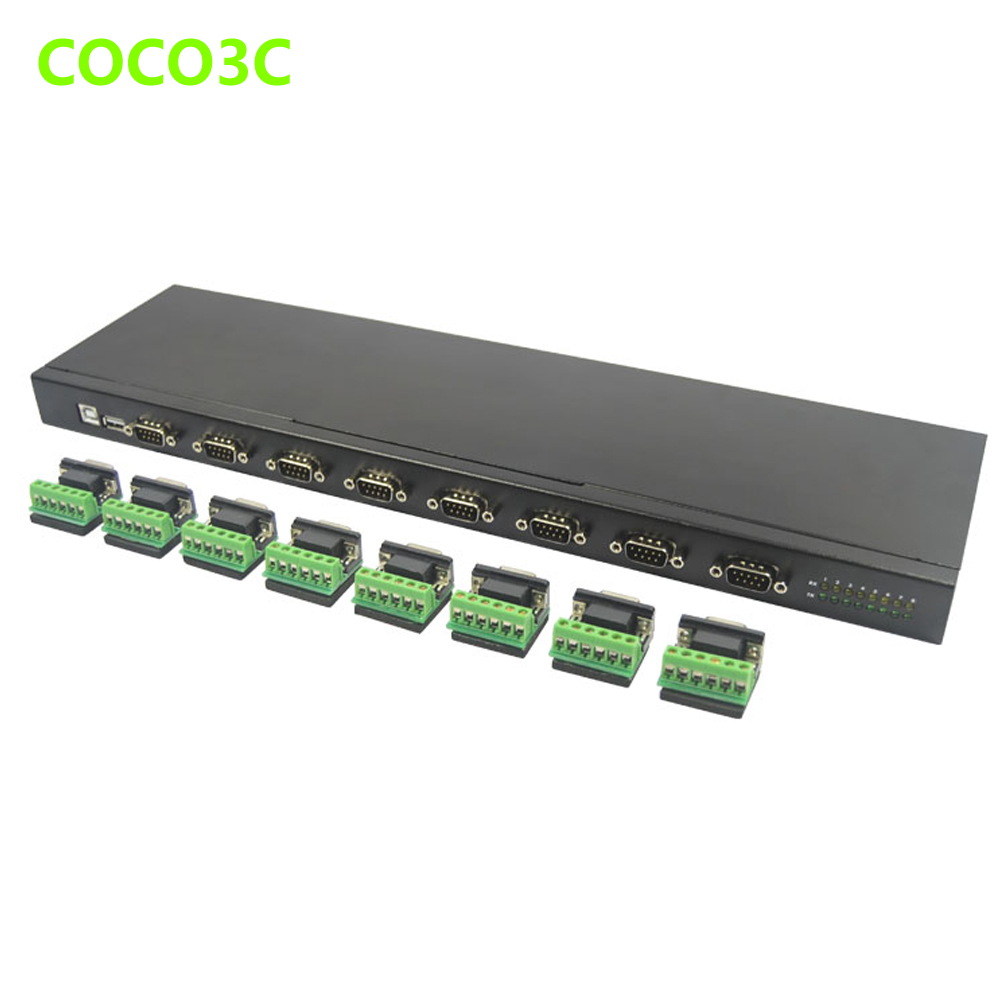 Usb To 8 Ports Rs232 Rs 422 Rs 485 Converter Box Hub Usb 2