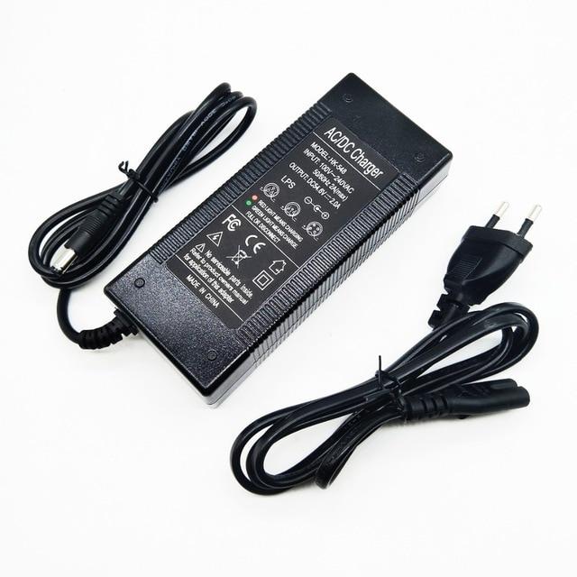 HK Liitokala 54.6V2A зарядное устройство 54,6 в 2A зарядное устройство для 48 В литиевая батарея электрического велосипеда зарядное устройство 54.6V2A