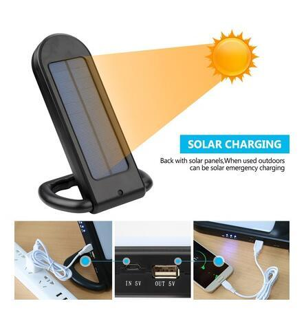 12 led multi funcional portatil solar lampada de