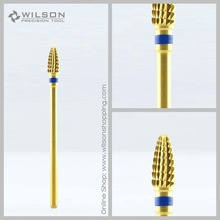 Mini Kon - Medium - Emas / Perak - WILSON Carbide Nail Drill Bit