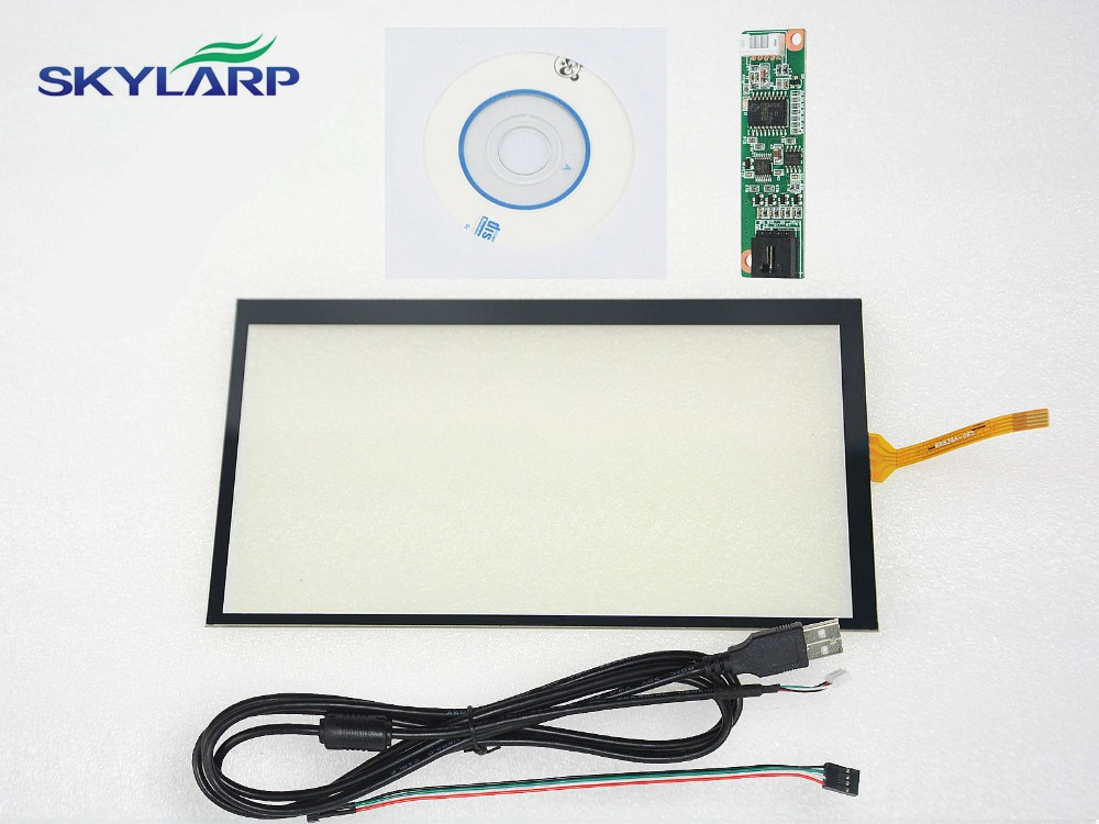 Skylarpu New 6.5inch 4 Wire Resistive Touch Screen Panel 155x89mm USB Controller For AT065TN14 Screen touch Glass Free shipping очки солнцезащитные ralph ralph lauren ralph ralph lauren ra002dwzbv77